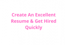 Build An Excellent Resume